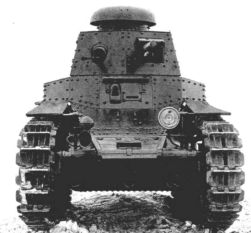 Первый советский танк МС-1 (малый сопровождающий)