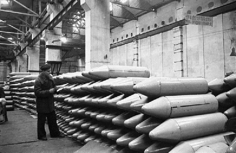 Снаряды на заводе имени Я. М. Свердлова