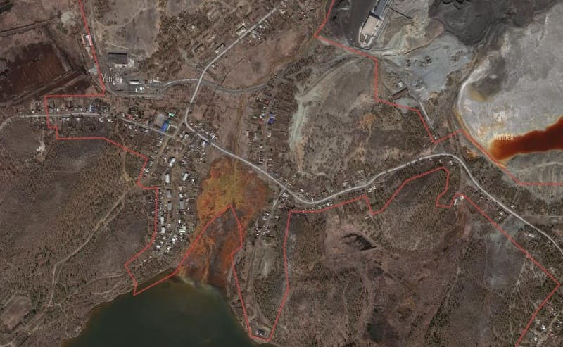 Город Карабаш на карте спутника