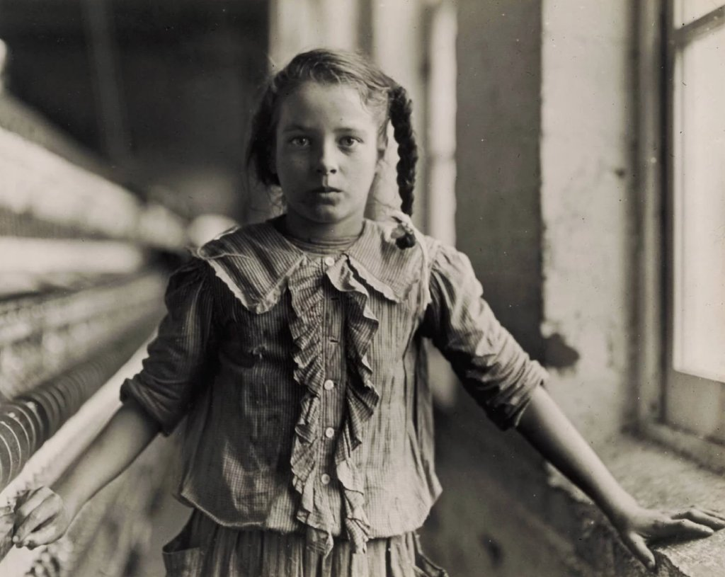 13 летняя прядильщица 1908 г.